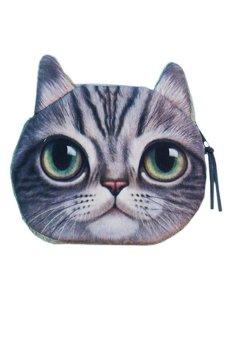 Cocotina Zipper Case Coin Purse Wallet - Cute Cat
