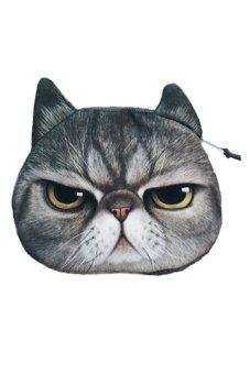 Cocotina Zipper Case Coin Purse Wallet - Ferocious Cat