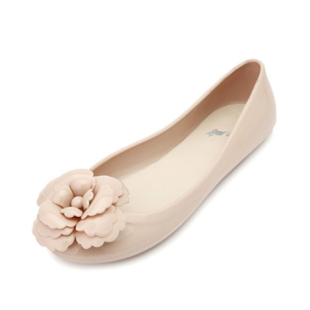 Comfortable female New style flat gel shoes sandals (Lotus color)