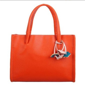 Contrast Color Retro Handbags Casual Shoulder Bags Orange