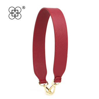 Contrasting color double-sided bag strap shoulder strap (58cm red double-sided cross Pattern)