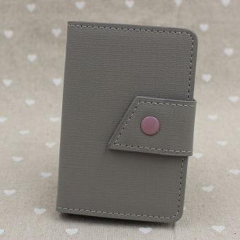 Cool business men's credit card sets small card holder card bit (Gray)