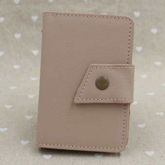 Cool business men's credit card sets small card holder card bit (Pink twill knife-type scarf)
