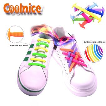Coolnice No-Tie Silicone Shoelace RAINBOW - 4