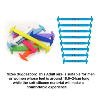 Coolnice No-Tie Silicone Shoelace RAINBOW - 2