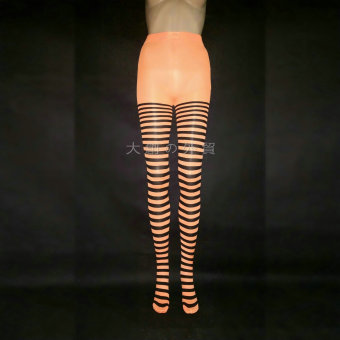 COS quality striped tights (Orange)