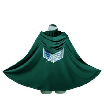 Cosplay Accessories Attack On Titan Shingeki No Kyojin Cloak Cape Green Costume - intl Price Philippines