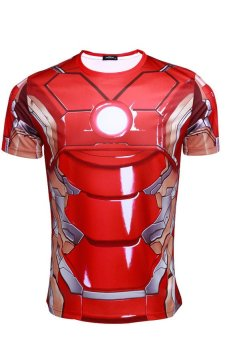 Cosplay Men's Marvel The Avengers 2.0 Iron Man T-Shirt (Red)
