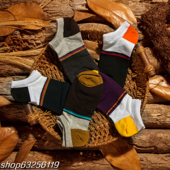 Cotton breathable summer short tube socks thin cotton socks (Brown)