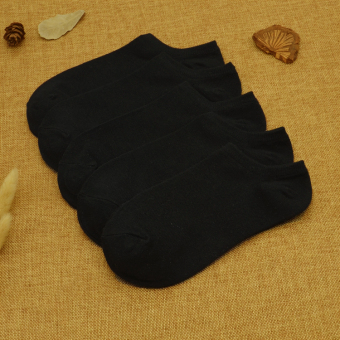 Cotton men low-top Socks (5 double black)