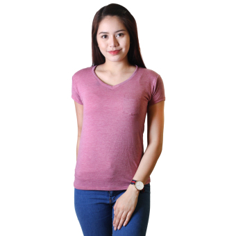 Cotton Republic Anastasia V-Neck Soft Top Blouse (Purple)