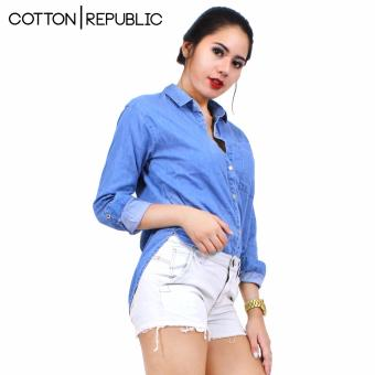 Cotton Republic Fashionable Denim Long Sleeves Shirt Price Philippines