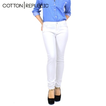 Cotton Republic Hipster Chromatic Jeans - White Price Philippines