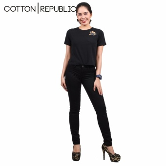 Cotton Republic Soft Stretchable skinny Jeans (Black) - 4