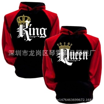 Couple Hoodies Fashion Long Sleeve Couple Clothes King&Queen Cruel Hooded Sweatshirt Couple_Sweatshirt Autumn and Winter - intl Price Philippines