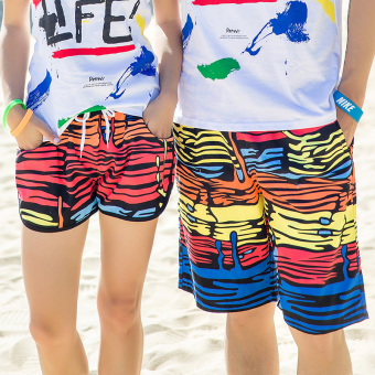 Couple New style short-sleeved quick-drying men and women T-shirt (Shorts the dress (one-piece))