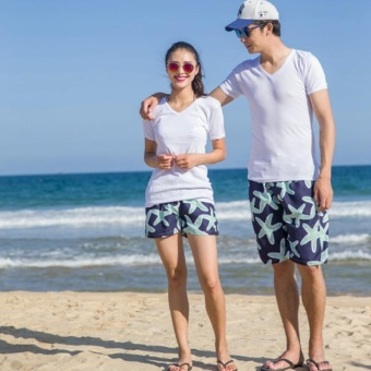 Couple Summer lovers beach Shorts quick drying couple beach pantsSummer leisure shorts Swim beach starfish pants suit large sizeholiday swimsuit Women - intl
