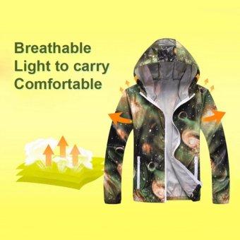 Couple Ultra-thin Breathable Quick-drying Jacket UV Anti-sunClothing Raincoats For Men&Women Grey - intl - 3