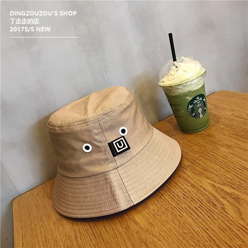6b73a06e226 Couple s Jianyue solid color men and women bucket hat fisherman hat (Khaki)