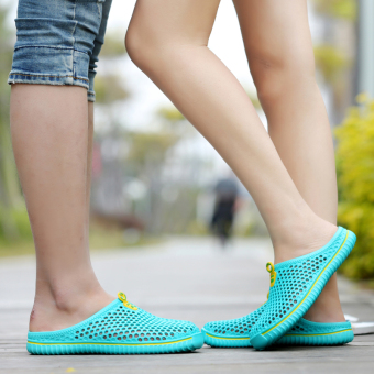 Couple's Shishang female outerwear slipper shoes slippers (Sky blue color)
