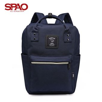 Couple's spao2017 spring New style casual backpack computer bag (Dark blue color)