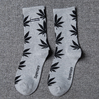 Couple's Fashionable 100% Cotton Tube Socks (Gray)
