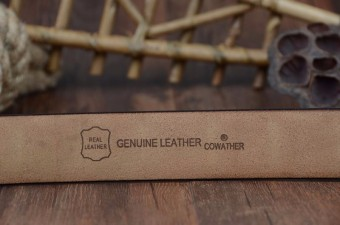 COWATHER 100% Cow Leather Belts For Men - Mens Cow Genuine Leather Belt for Dress & Jeans - Big & Tall Size - Great - 5