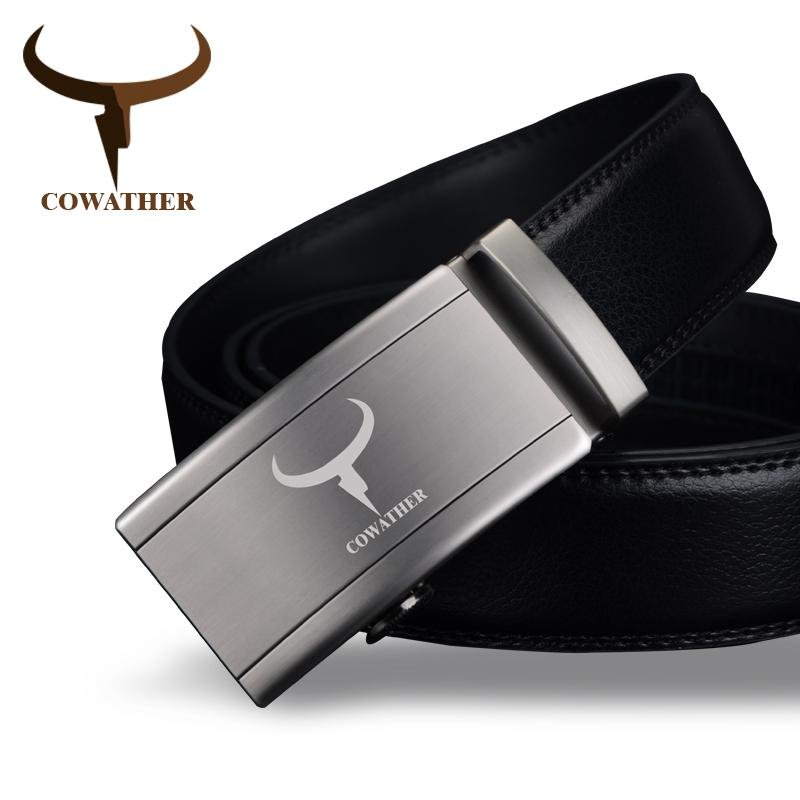 Reasonable Cowather Cow Genuine Leather Men Belt Cowhide Belt For Men Metal Fashion Automatic Buckle Male Strap High Quality Male Waistband Apparel Accessories