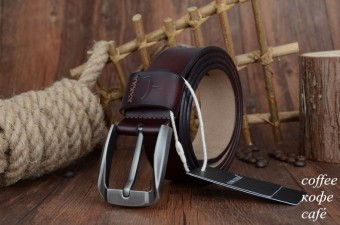 COWATHER Men's 100% Cow Genuine Leather Casual Jeans Belt Waist Band Strap Pin Buckle Belts for Men - 5