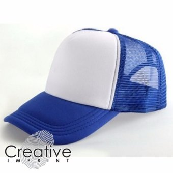 Creative Imprint Plain Trucker Mesh Net Baseball Cap (Royal BlueWhite) Price Philippines