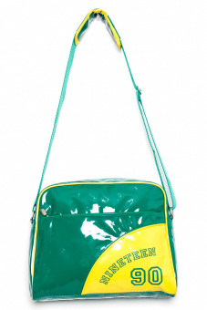 Crimson Men's Bag with Print (Green/Yellow)