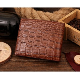 Crocodile Grain Short Man A Wallet(Brown)