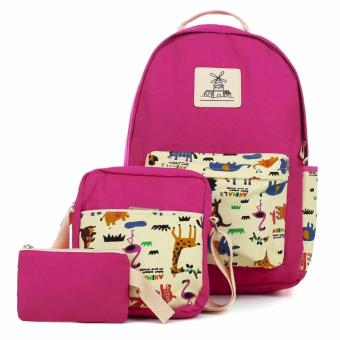 Culture 3 in 1 Fashion Canvas School Backpack (Magenta) Price Philippines