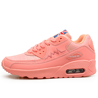 Cushion thick bottomed elevator sports shoes women's shoes (A222 pink)