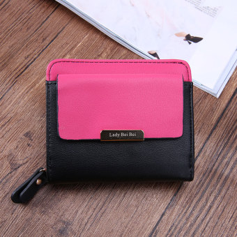 Cute New style Japanese and Korean style student mini purse bag wallet (Black)