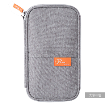 Cute protective case travel storage bag export documents bag passport bag (Are code + Large gray)