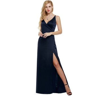 Cyber ANGVNS Women Strap Sleeveless Split Side Evening Dress LongEvening Gown - Intl