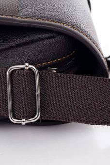 Cyber Men's Business Crossbody Messenger Bag (Brown) - picture 3