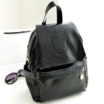 Cyber Stylish European Style Lady Women Backpack Bag (Black)