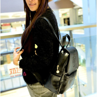Cyber Stylish European Style Lady Women Backpack Bag (Black) - picture 2