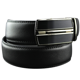 Cyber Synthetic Leather Men Business Belt Automatic Buckle ( Black ) - picture 2
