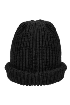 Cyber Unisex Plain Knitting Beanie Casual Hat (Black) - picture 2