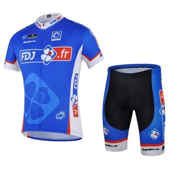 Cycling Suits Short Jersey Short Sleeves & Shorts-Time TunnelMotorcycle Bike Jerseys Mens Compression Tights Suit - intl