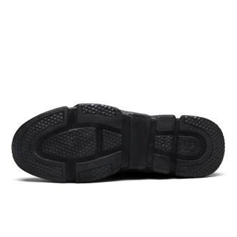 CYOU Running Shoes Light Weight Mesh Sports Shoes Jogging Sneakers For Man Outdoor Flat Walking Trend Shoes Kasut Lelaki (Black) - intl - 3