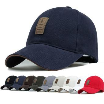 Dad Hat Baseball Cap Unconstructed Polo Style Adjustable Navy Blue- intl