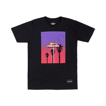 DAILY GRIND TROPICAL T-SHIRT (BLACK)