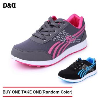 D&D Women's Sports Running Shoes Fashion Student Shoes JZ-A-2 (Grey) BUY ONE TAKE ONE(Random Color)