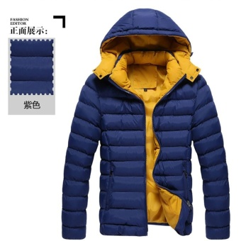dark blue 3XL 2017 Men Winter Jacket Warm Male Coats Fashion Thick Thermal Men Parkas Casual Men Branded Clothing - intl