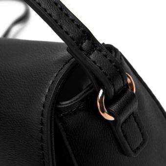DAVIDJONES Genuine Leather Mini Crossbody Bag - 4