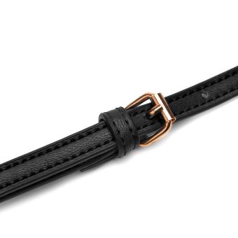 DAVIDJONES Genuine Leather Mini Crossbody Bag - 5